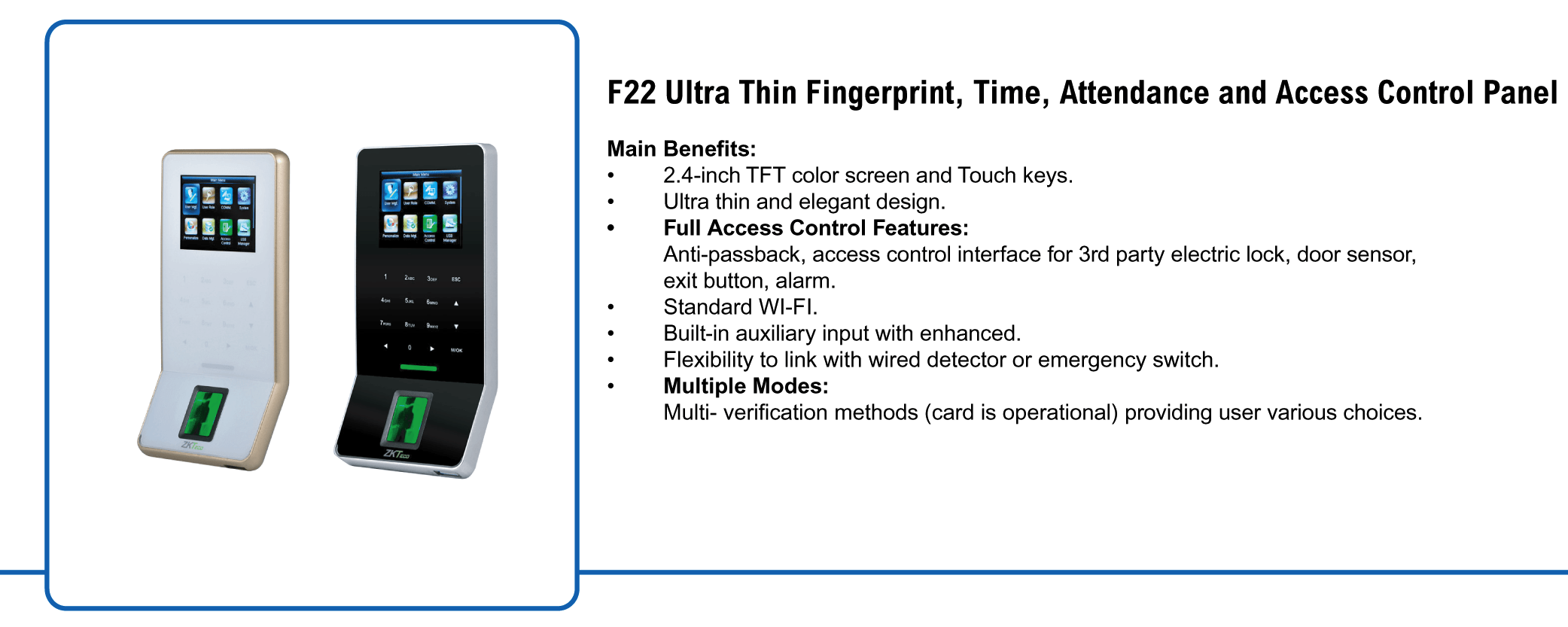 Ultra-thin fingerprint scanner