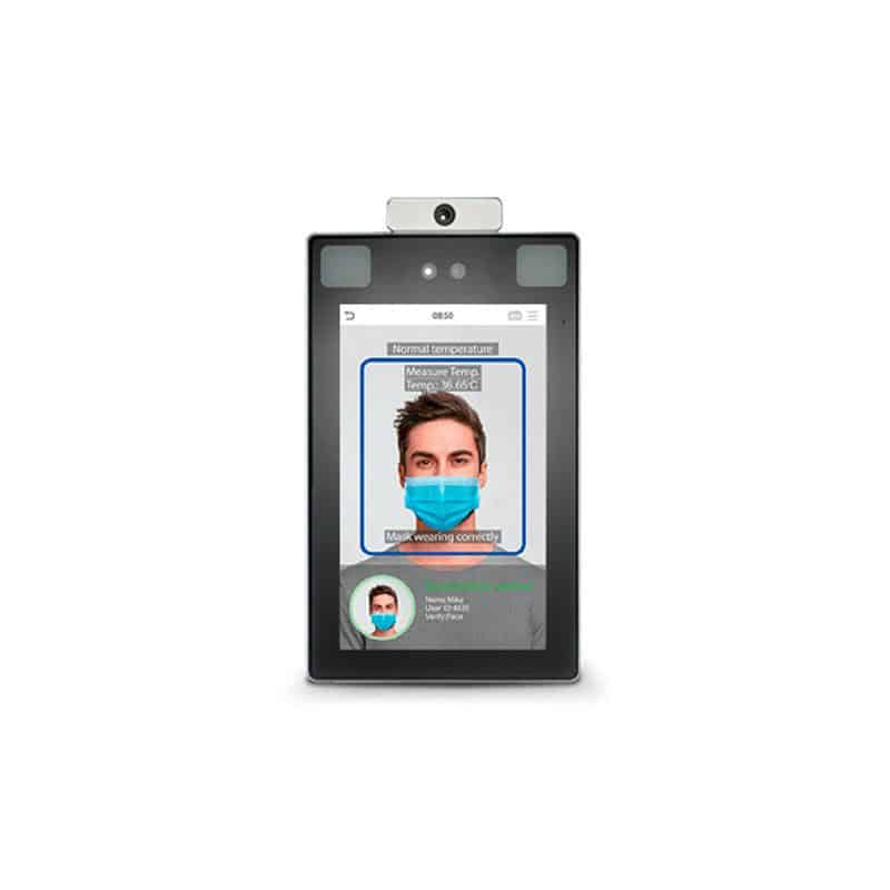 biometric scanner image of man with mask