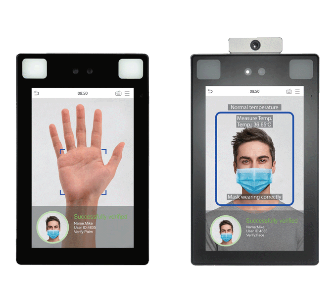palm and face recognition biometric scanning system