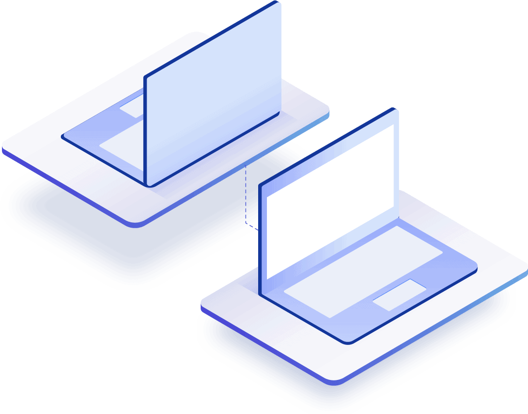 software icon showing two computers